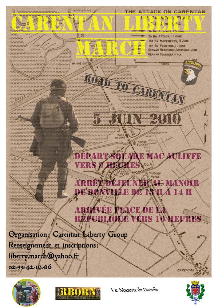 Carentan Liberty's march, samedi 5 juin 2010 Affich10