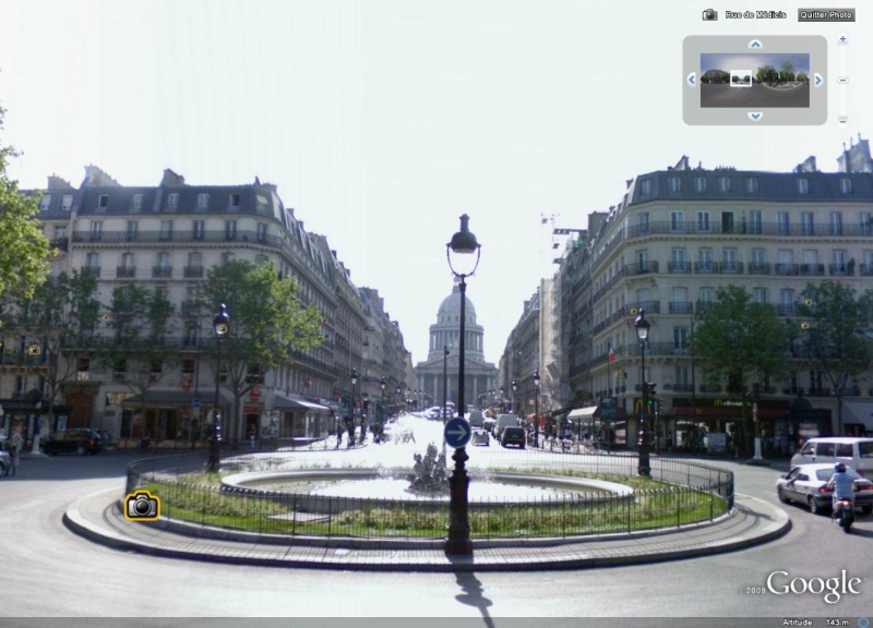 Cartes postales anciennes Vs StreetView Panthe11