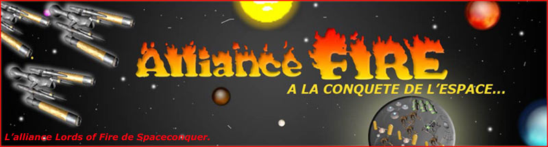 Site de l'Alliance Lords of Fire de SpaceConquer