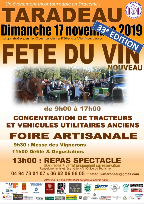 Taradeau - Fête du Vin nouveau 17 novembre 2019 Affich10