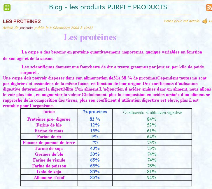 demonstration de bouillette de purple production Capt-710