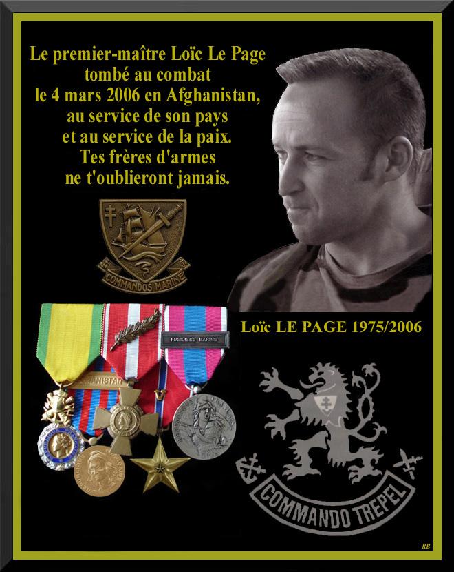 LE PAGE Loïc - Maître Principal fusilier marin commando - mort au combat le 4 mars 2006 en Afghanistan 16_pla13