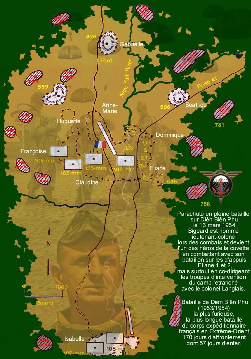 Guerre d'Indochine parcours de Marcel Bigeard 1945/1954 2_dien11