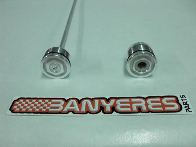 Bouchons  spéciaux suspension avant Showa Montesa. Cimg4811