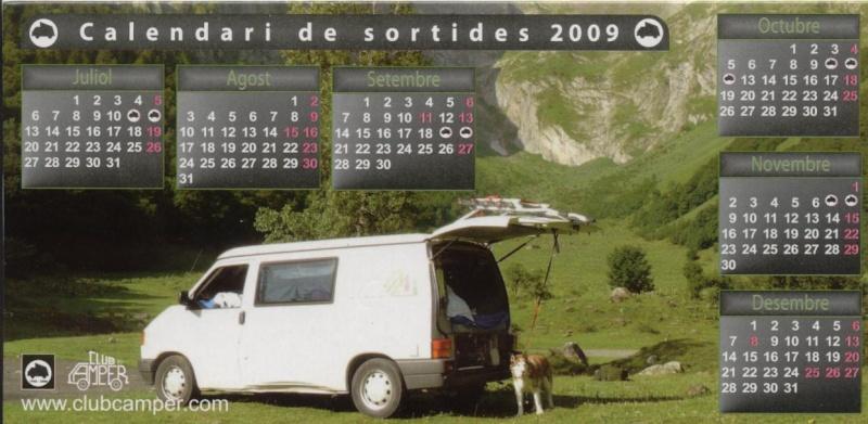 Calendari sortides 2009 Carnet11