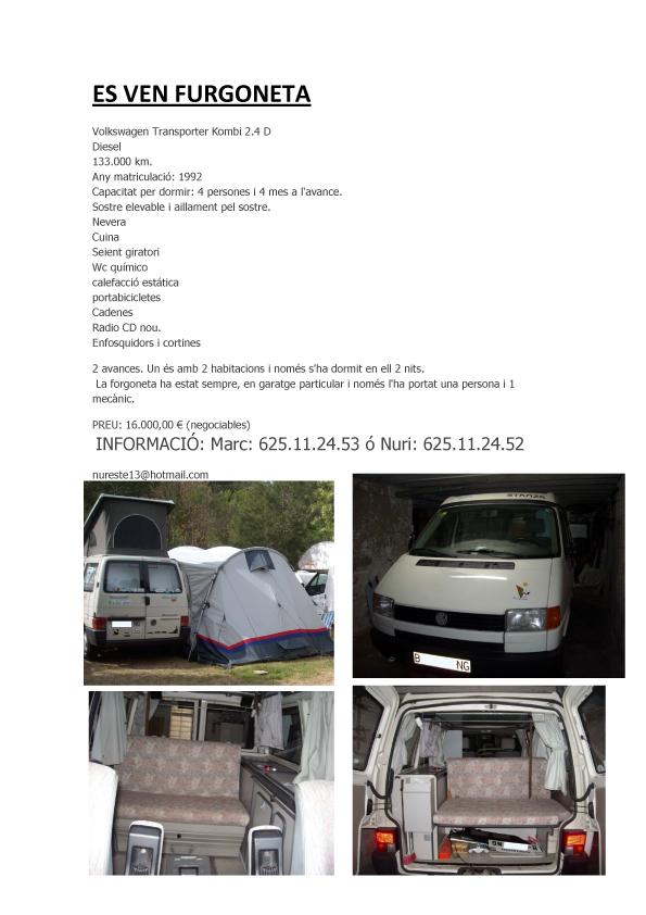 Volkswagen T4 2.4 D Sostre Elevable Stanza Camperitzada Es_ven10