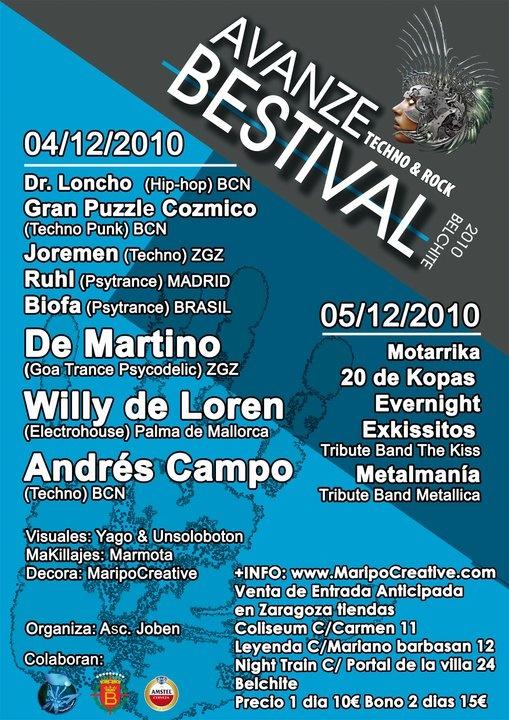 Maripo Avanze Bestival 4 y 5 /12/2010 Cartel15