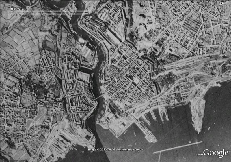 Images satellites de quatre villes francaises pendant la deuxième guerre mondiale !!! Brest110