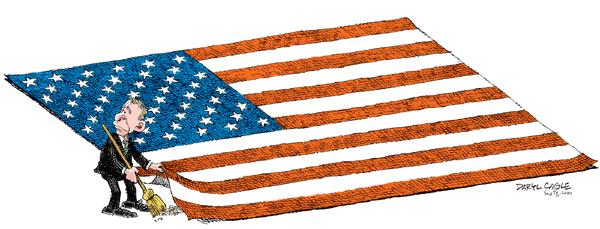 Daryl Cagles, caricaturiste américain, retro années bush Cagle210
