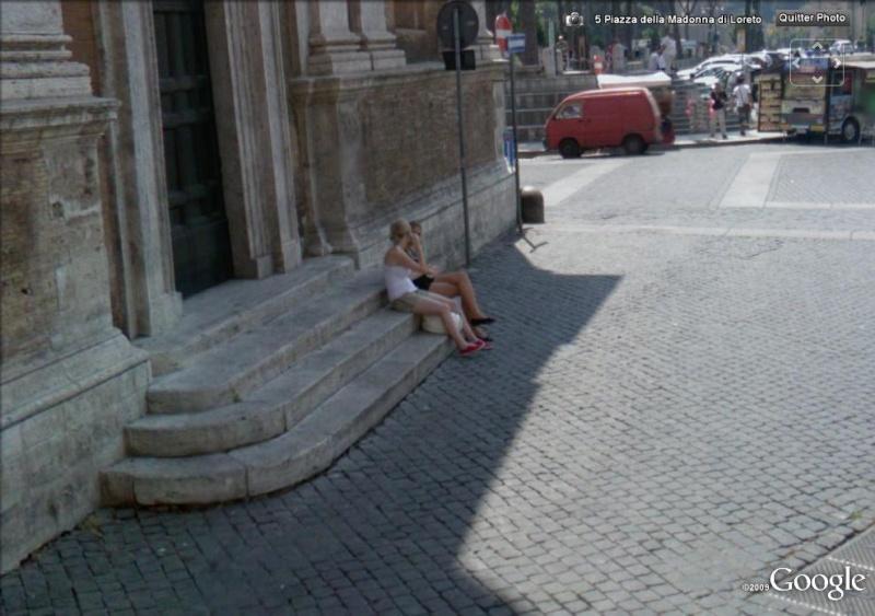 STREET VIEW : jolies italiennes à Rome Rome210