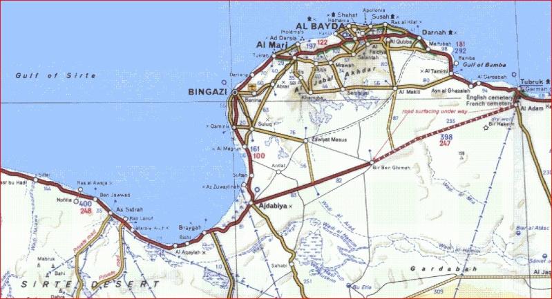 CARTES DE LA LIBYE Libye012