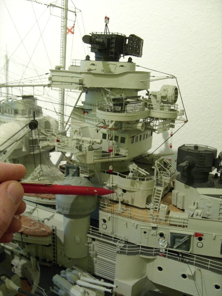 Vergrößerte Bismarck-Teile, gebaut von Gustibastler Sdc15433