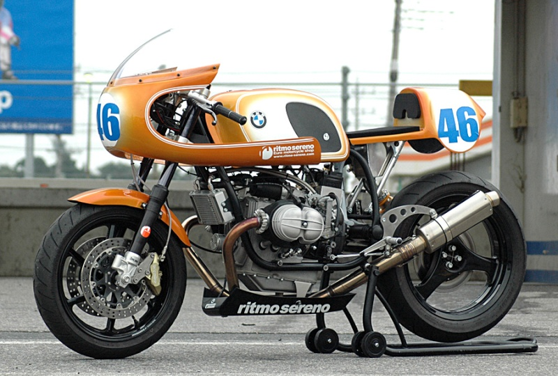 C'est ici qu'on met les bien molles....BMW Café Racer R80hp-10