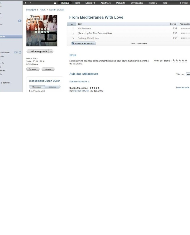 From Mediterranea with Love dispo en vente sur I TUNES  Ddgrat11