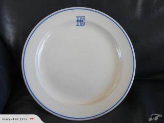 DC logo on Crown Lynn plate - advertising ware Dc10