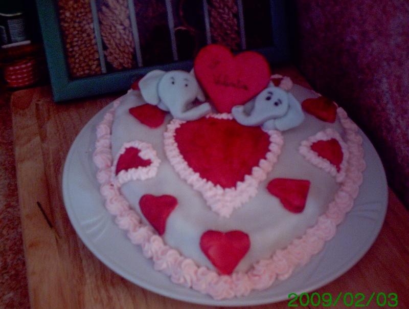 gâteau avec des coeurs Stvale11
