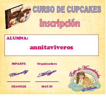 """Curso de """" Cupcakes"""" Annita10"""