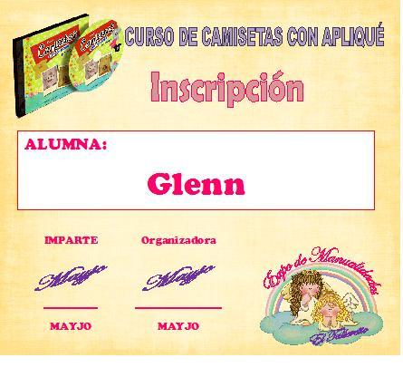 CURSO CAMISETAS CON APLIQUE  Glenn12