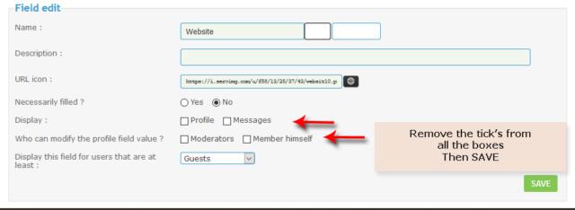 Deleting a profile contact field? Captu204