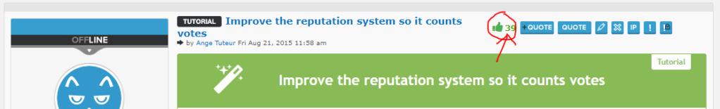 How to remove the minus reputation symbol Captu350