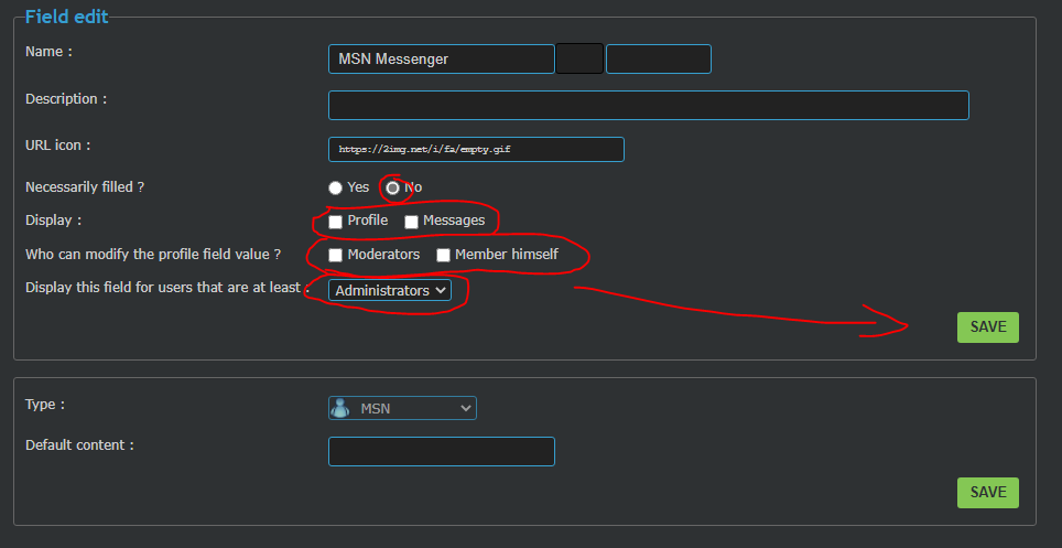 Remove AIM, MSN and Yahoo messengers off the lists of contact field in PHPBB3, add Discord instead Captu438