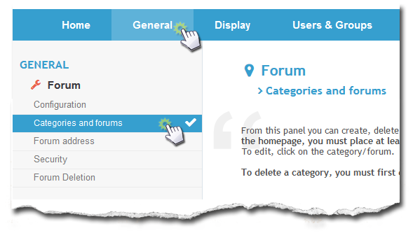 Categories and Forums - Creation and Appearance Captur92