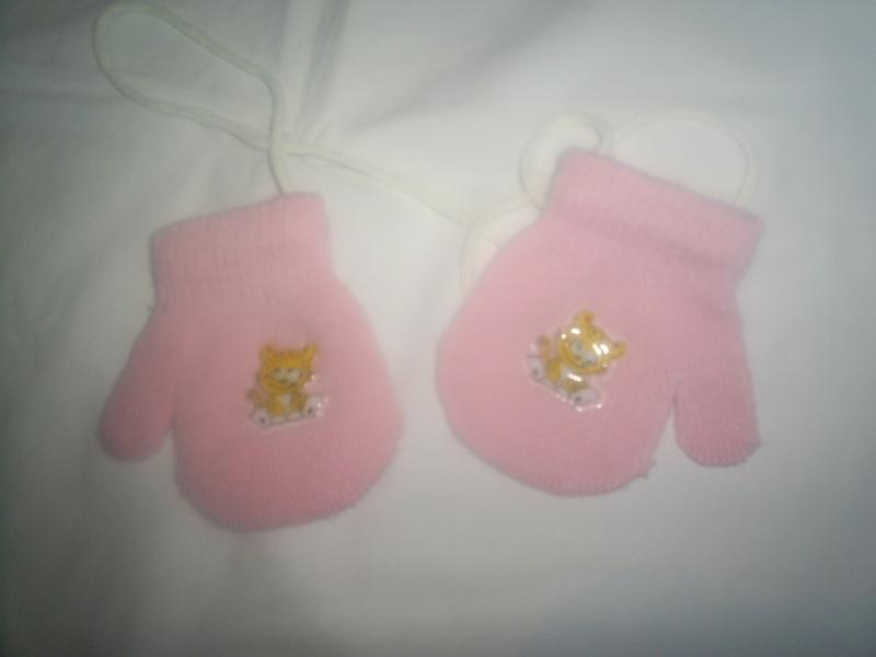 gants rose fille 9-12 mois S4021018