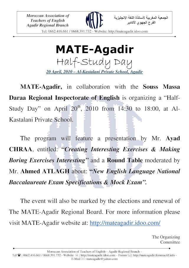 MATE-Agadir Half-Study Day & Board Renewal - 20.04.2010 Mate-a18