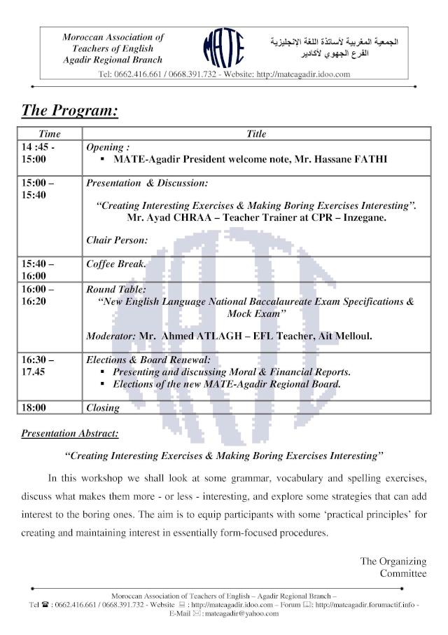 MATE-Agadir Half-Study Day & Board Renewal - 20.04.2010 Mate-a19