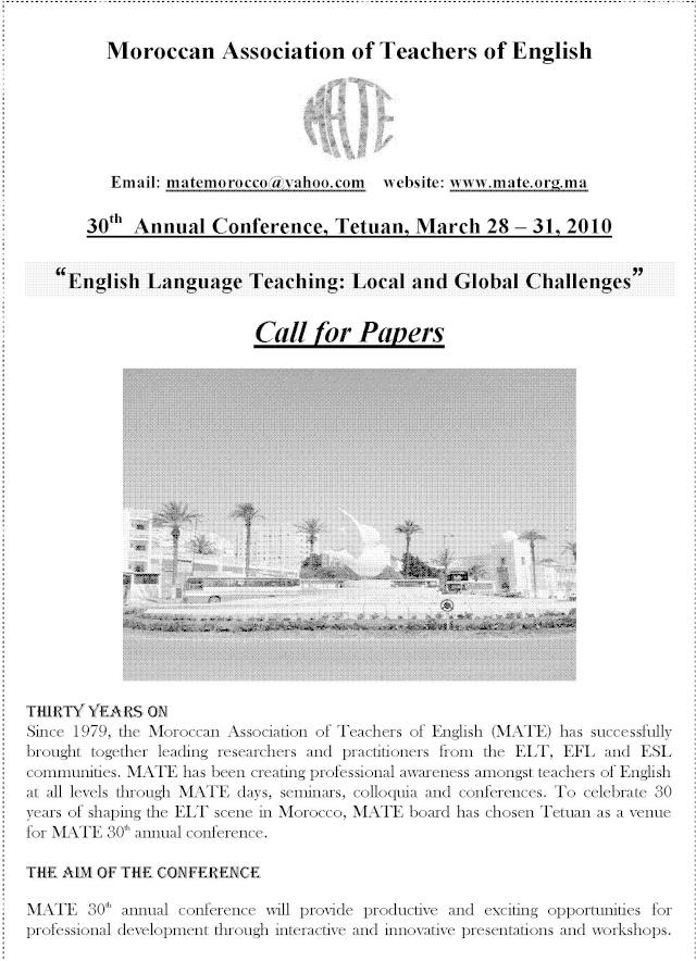MATE 30th Annual Conferece 2010 - Call 4 Paper Mate_312