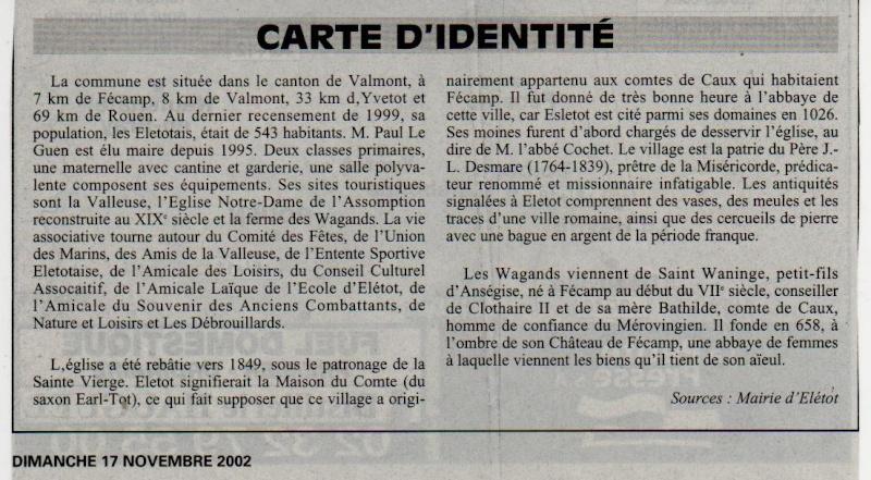 Histoire des communes - Eletot Eletot15