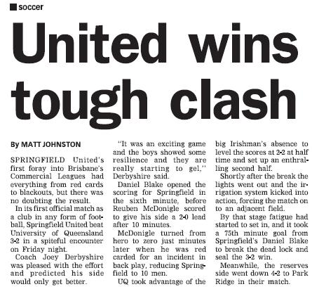 Springfield United in the paper... Rd110