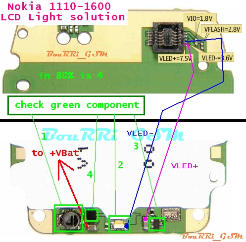 ...::1110+1600 LCD LIGHT PROBLAME SOLUTION::... 1110-110