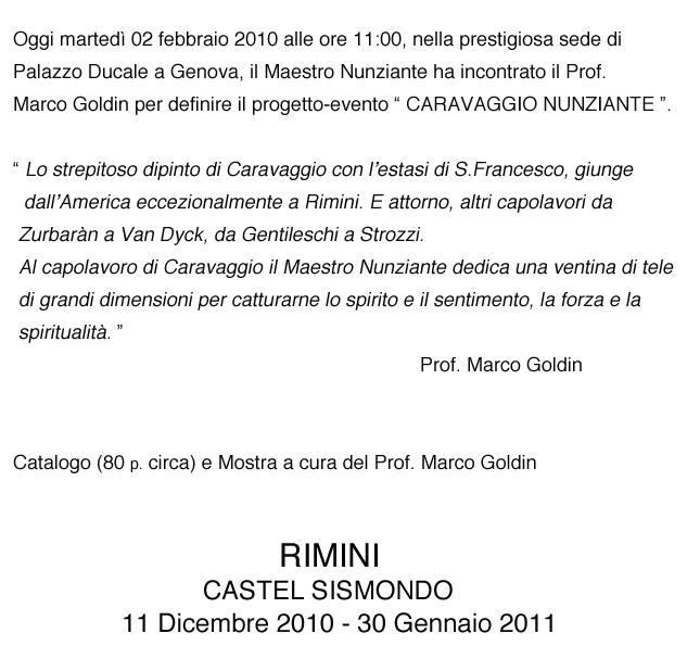 EVENTO SPECIALE A RIMINI, CASTEL SISMONDO: 11 DICEMBRE 2010-30 GENNAIO 2011 02021010