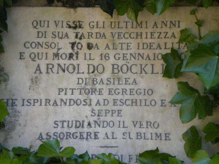 "FIESOLE ""Isole del pensiero"" Böcklin-de Chirico-Nunziante Lapide10"