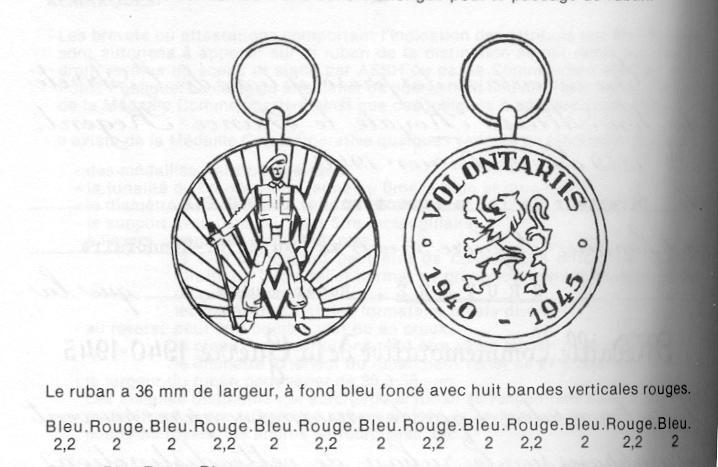 identification rappel: Médaille du Volontaire, 1940-45 Vrijwi10
