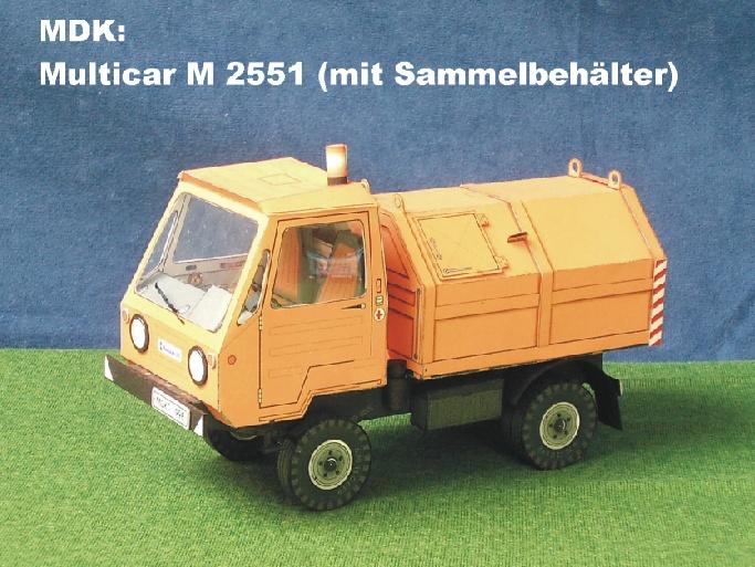Multicar – Neuheiten von MDK M_255110