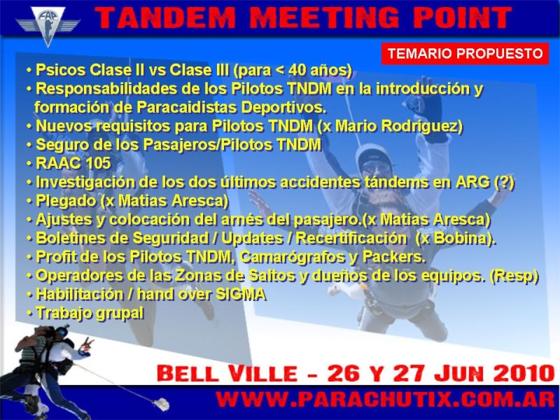 .:: TANDEM MEETING POINT 2010::.RESUMEN Diapos19