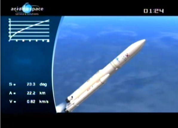 Ariane 5 ECA V195 : Arabsat 5A + COMS 1 (26/06/2010) - Page 11 Capt_102