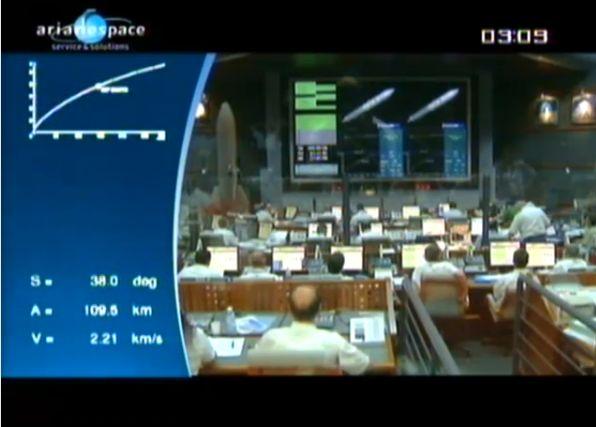 Ariane 5 ECA V195 : Arabsat 5A + COMS 1 (26/06/2010) - Page 11 Capt_107