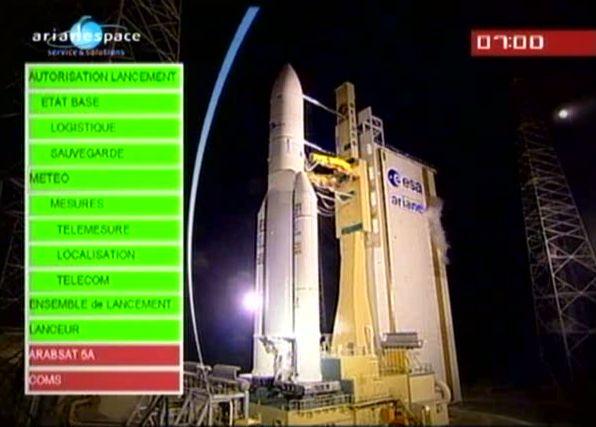 Ariane 5 ECA V195 : Arabsat 5A + COMS 1 (26/06/2010) - Page 6 Capt_171