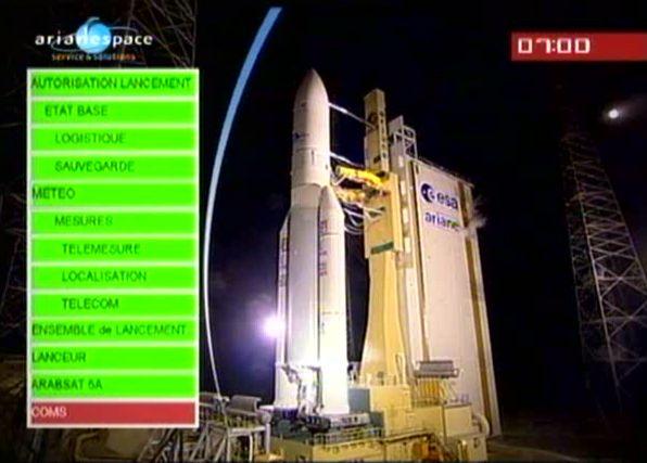 Ariane 5 ECA V195 : Arabsat 5A + COMS 1 (26/06/2010) - Page 7 Capt_172
