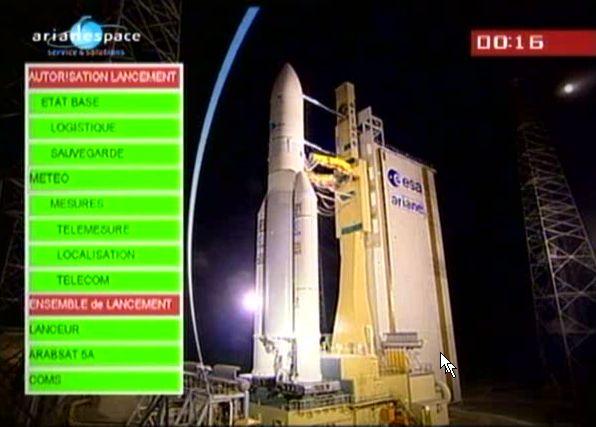 Ariane 5 ECA V195 : Arabsat 5A + COMS 1 (26/06/2010) - Page 8 Capt_175