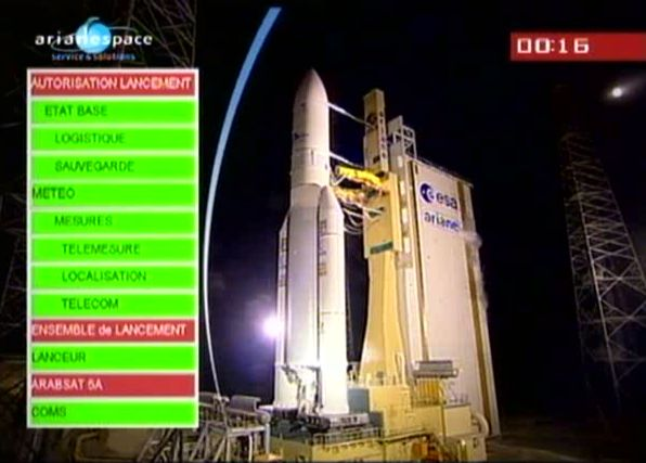 Ariane 5 ECA V195 : Arabsat 5A + COMS 1 (26/06/2010) - Page 8 Capt_176