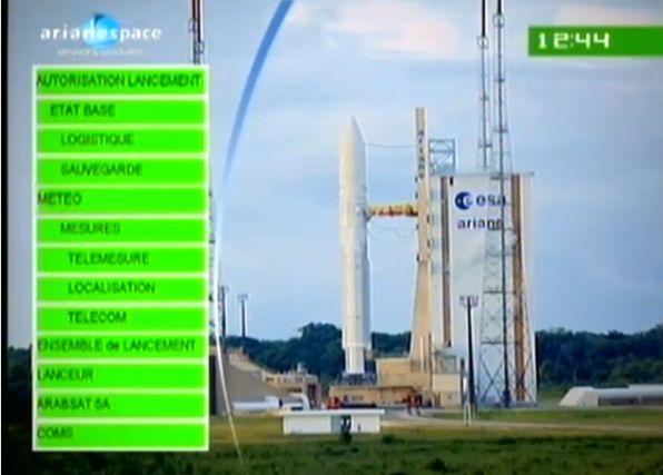 Ariane 5 ECA V195 : Arabsat 5A + COMS 1 (26/06/2010) - Page 11 Capt_184