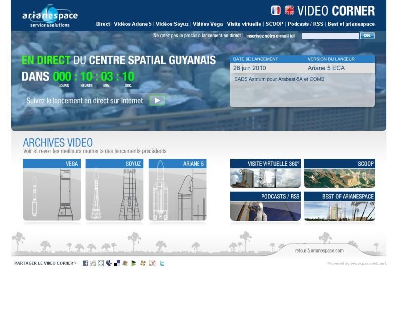 Ariane 5 ECA V195 : Arabsat 5A + COMS 1 (26/06/2010) - Page 10 Captur12