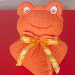 boneco de toalha Sapo-110
