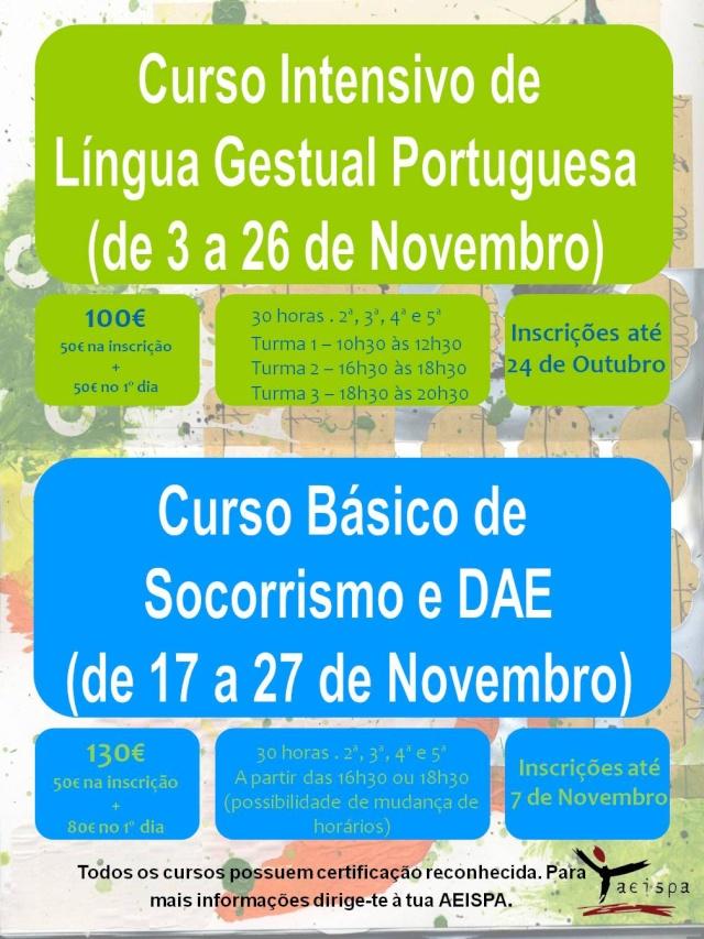 Curso Intensivo de Lingua Gestual Portuguesa e Curso Básico de Socorrismo e DAE Cartaz10