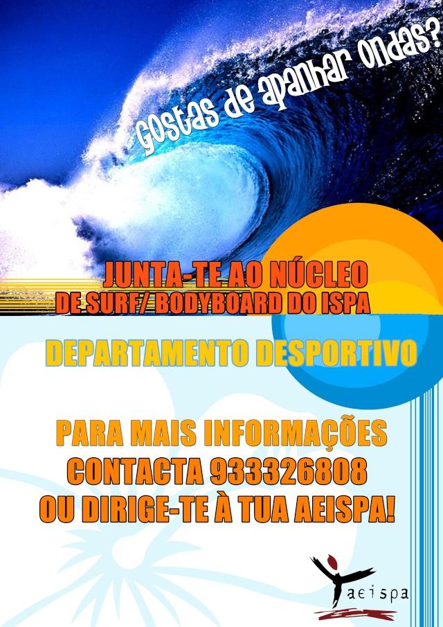Junta-te ao núcleo de Surf/ Bodyboard do ISPA Cs10