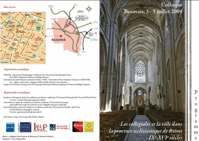 Colloque - Les collégiales et la ville dans la province ecclésiastique de Reims (IXe-XVIe siècles) Pour_f10